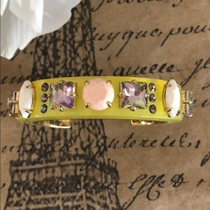 J. Crew Lucite-and-Crystal Bracelet